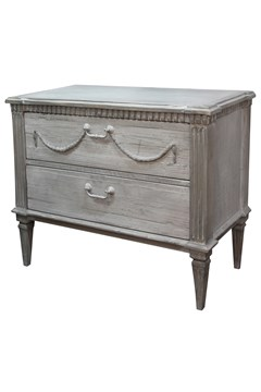 Bronte Commode with 2 Drawers GREY 1