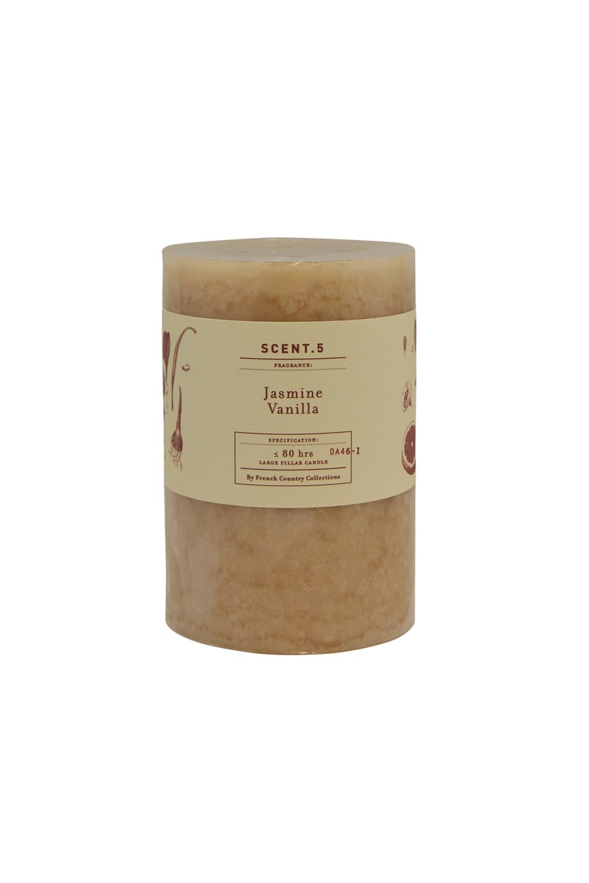 Jasmine Vanilla Mottle Pillar Candle
