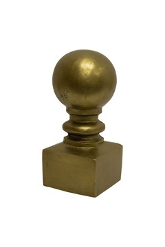 Gold Metal Finial - gold