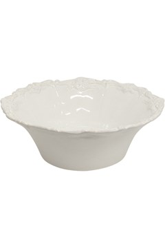Laurente Deep Salad Bowl - white