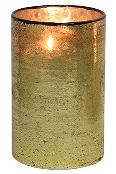 Gold Votive Holder with Line Gold 1