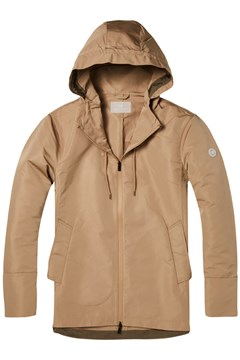 Clean Hooded Technical Jacket 0137 SAND 1