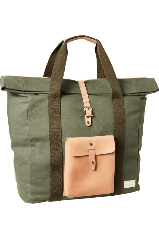 Leather Canvas Shopper