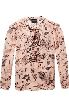 Ruffle Floral Blouse PATTERNED 1