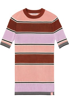 Striped Ribbed Knit Top STRIPE 1