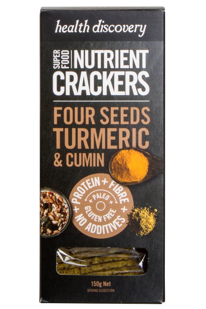 Four Seeds Tumeric & Cumin Nutrient Crackers