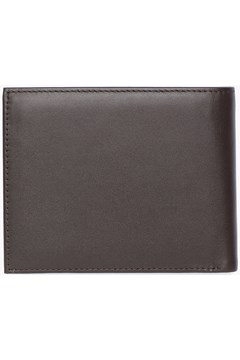 Bifold Leather Wallet - brown