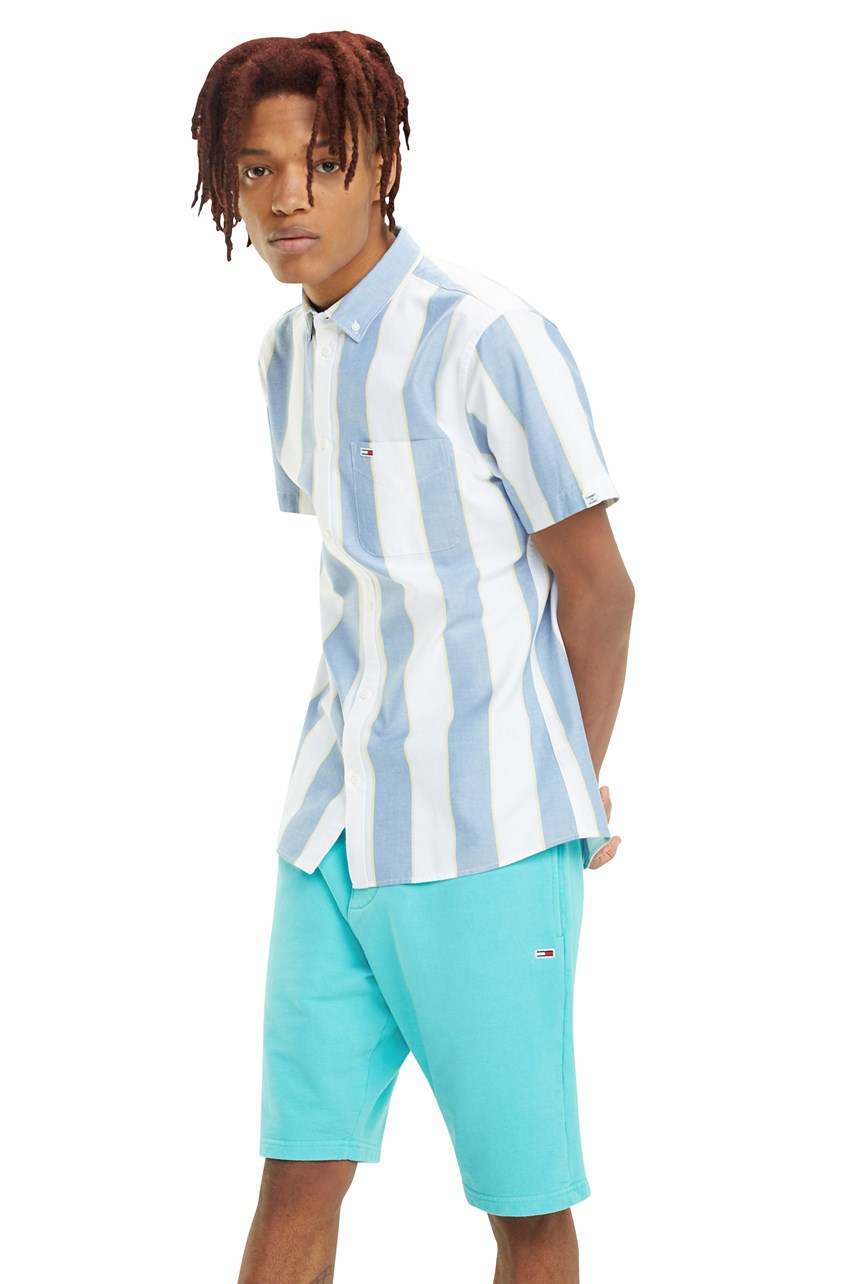 Striped Short Sleeve Oxford Shirt