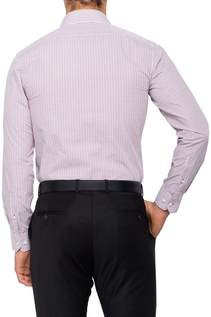 Small Check Euro Tailored Fit Shirt