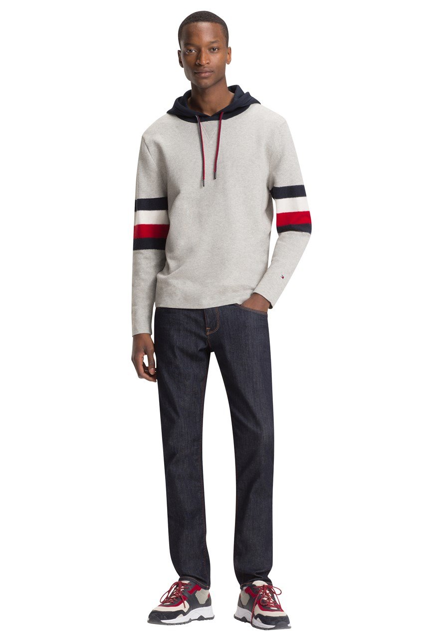 5f34a48ea Relaxed Fit Stripe Detail Hoodie ...