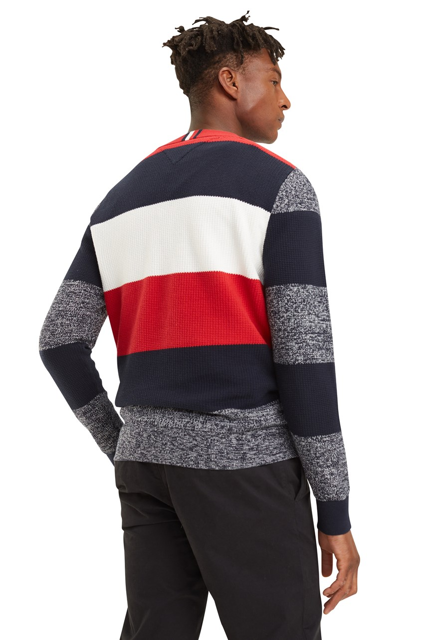 Allover Global Stripe Sweater
