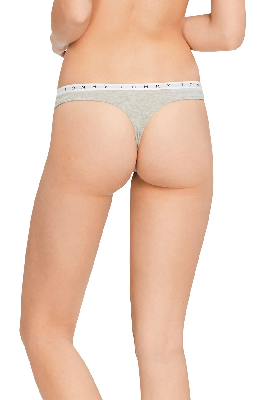 Tommy Logo Cotton Thong
