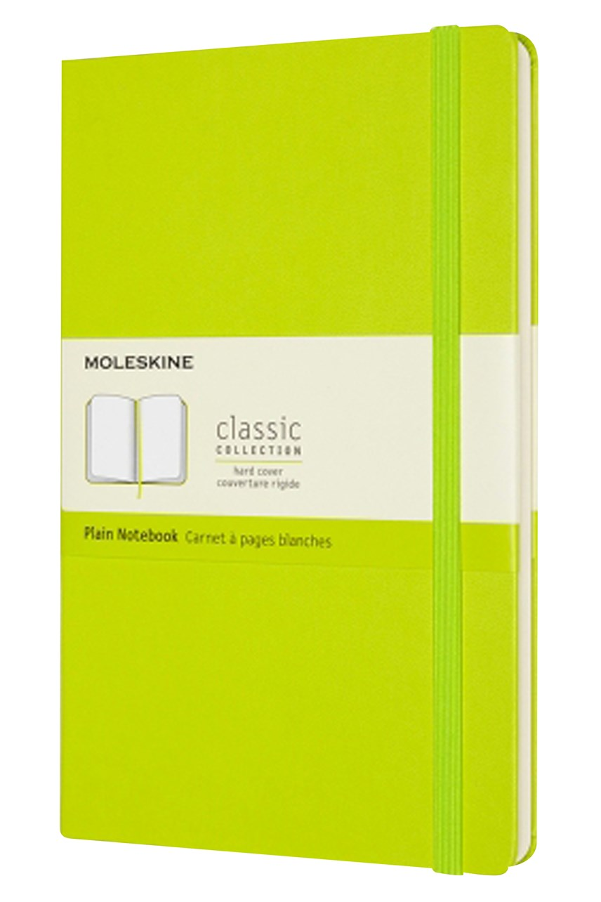 Classic Hard Cover Plain Notebook L