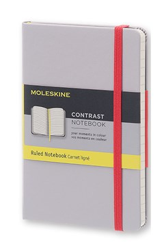 'Contrast Collection' Ruled Pocket Notebook GREY 1