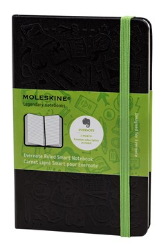 'Evernote' Hard Cover Pocket Ruled Notebook BLACK 1