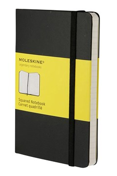 'Classic' Hard Cover Pocket Squared Notebook BLACK 1