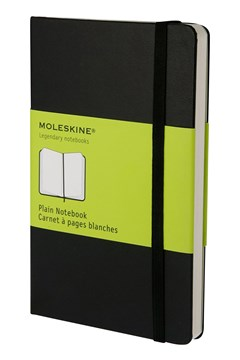 'Classic' Hard Cover Pocket Plain Notebook BLACK 1