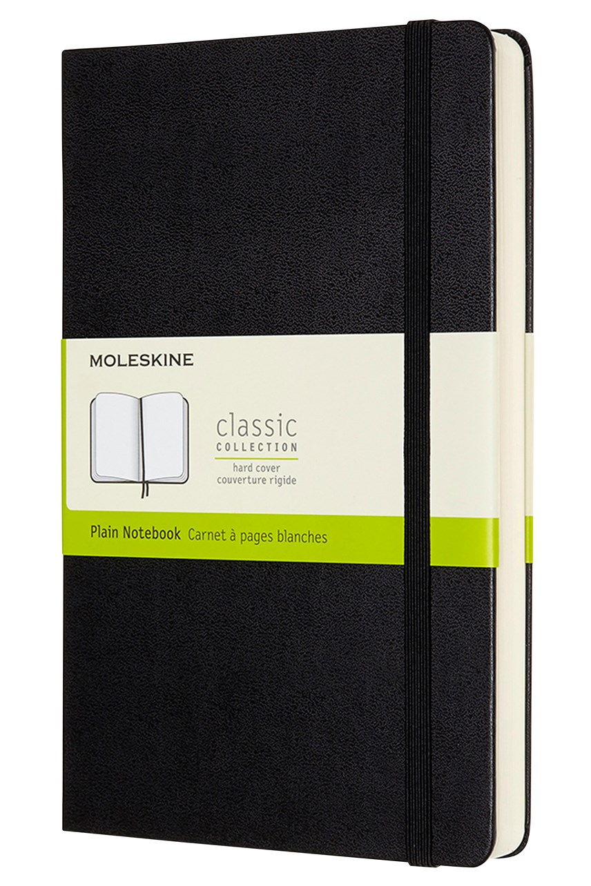 Classic Hardcover Expanded Plain Notebook