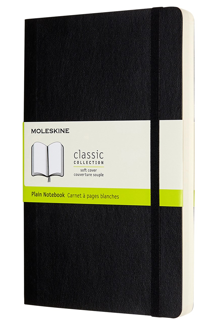Classic Softcover Expanded Plain Notebook