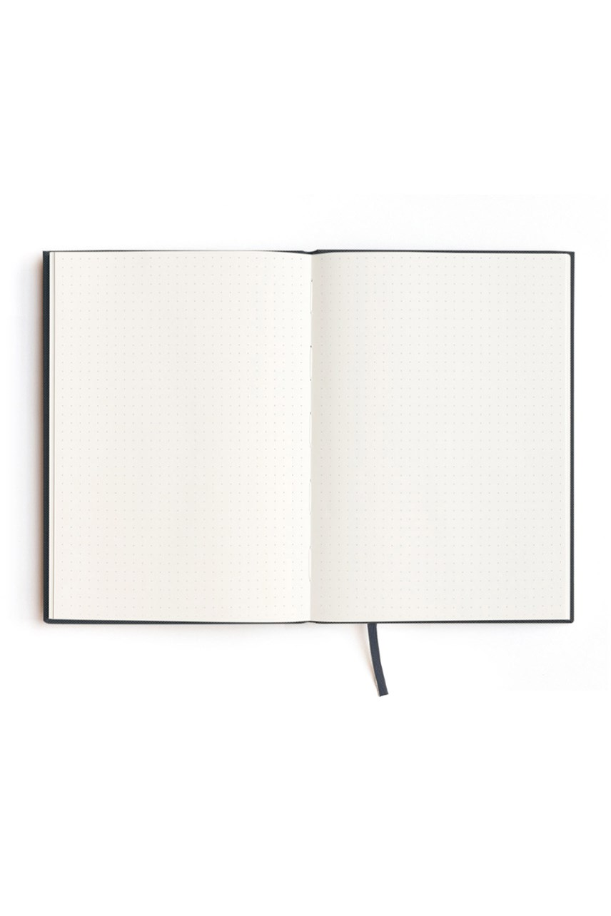 Red Dot Grid Notebook - A5