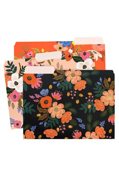 Lively Floral A4 File Folders - Set Of 6 LIVELY FLORAL 1