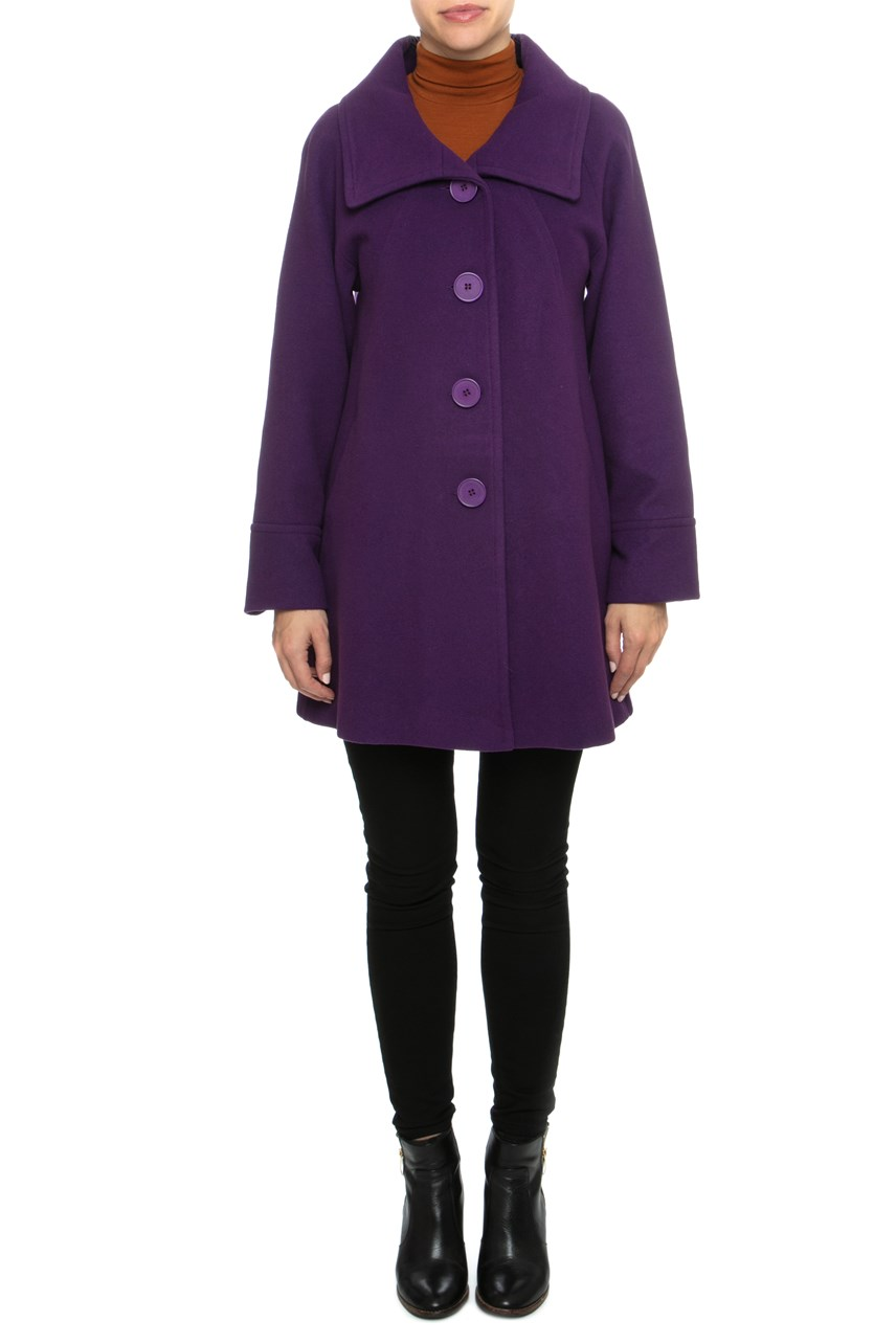Large Collar Swing Coat