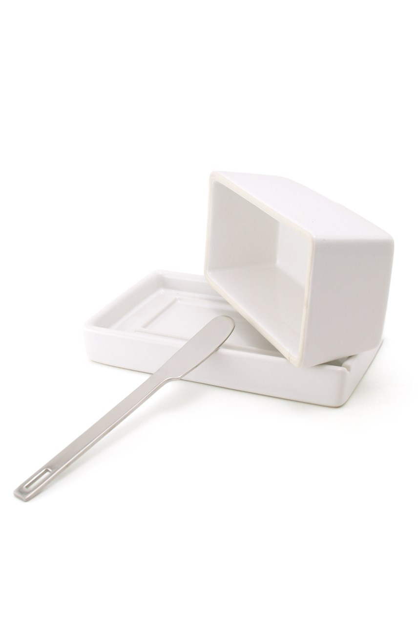 Butter Dish with Knife