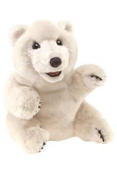 Sitting Polar Bear Puppet 1
