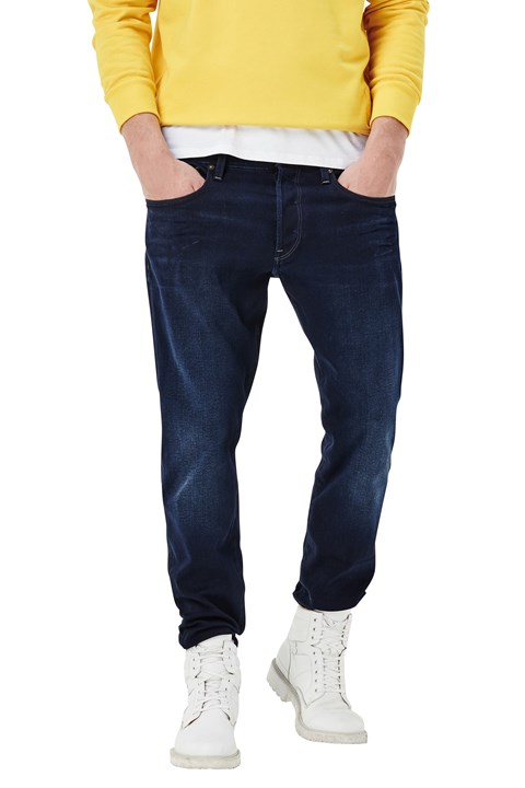 3301 Tapered Slander Indigo Supers Jean - dark aged (89)
