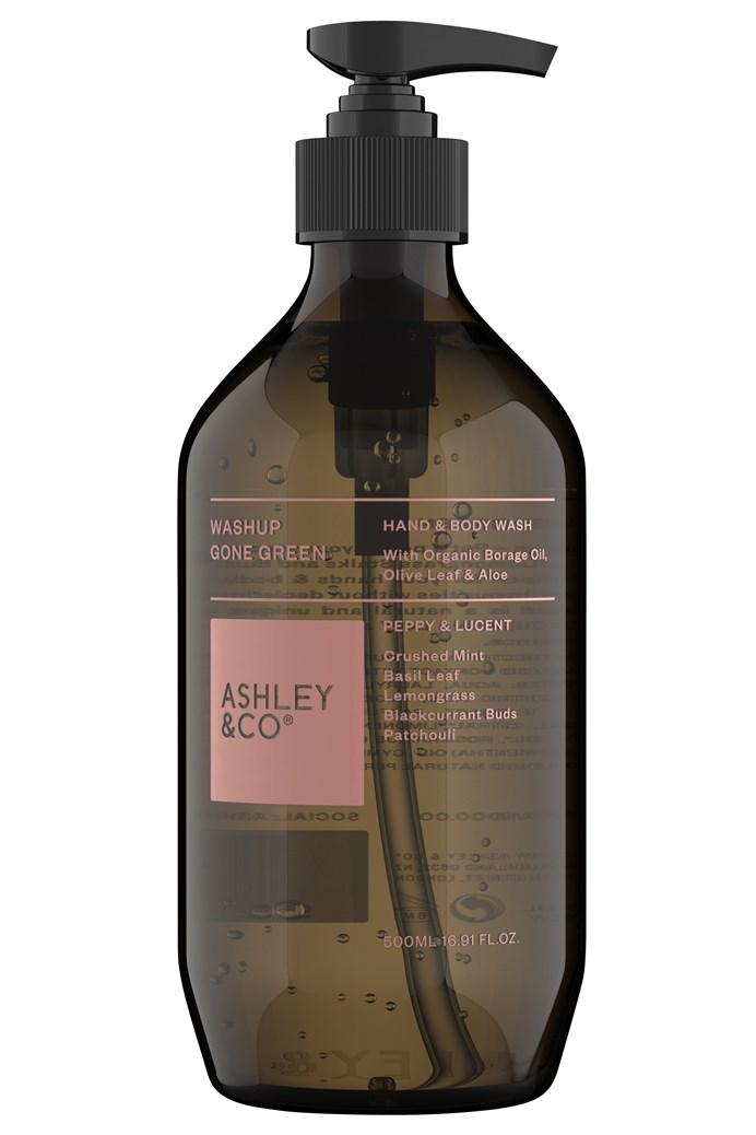 WashUp Gone Green 100% Natural Hand & Body Wash - Peppy & Lucent