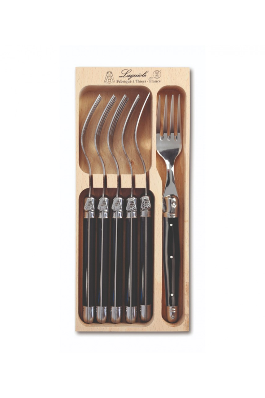 Fork Set of 6 - Black