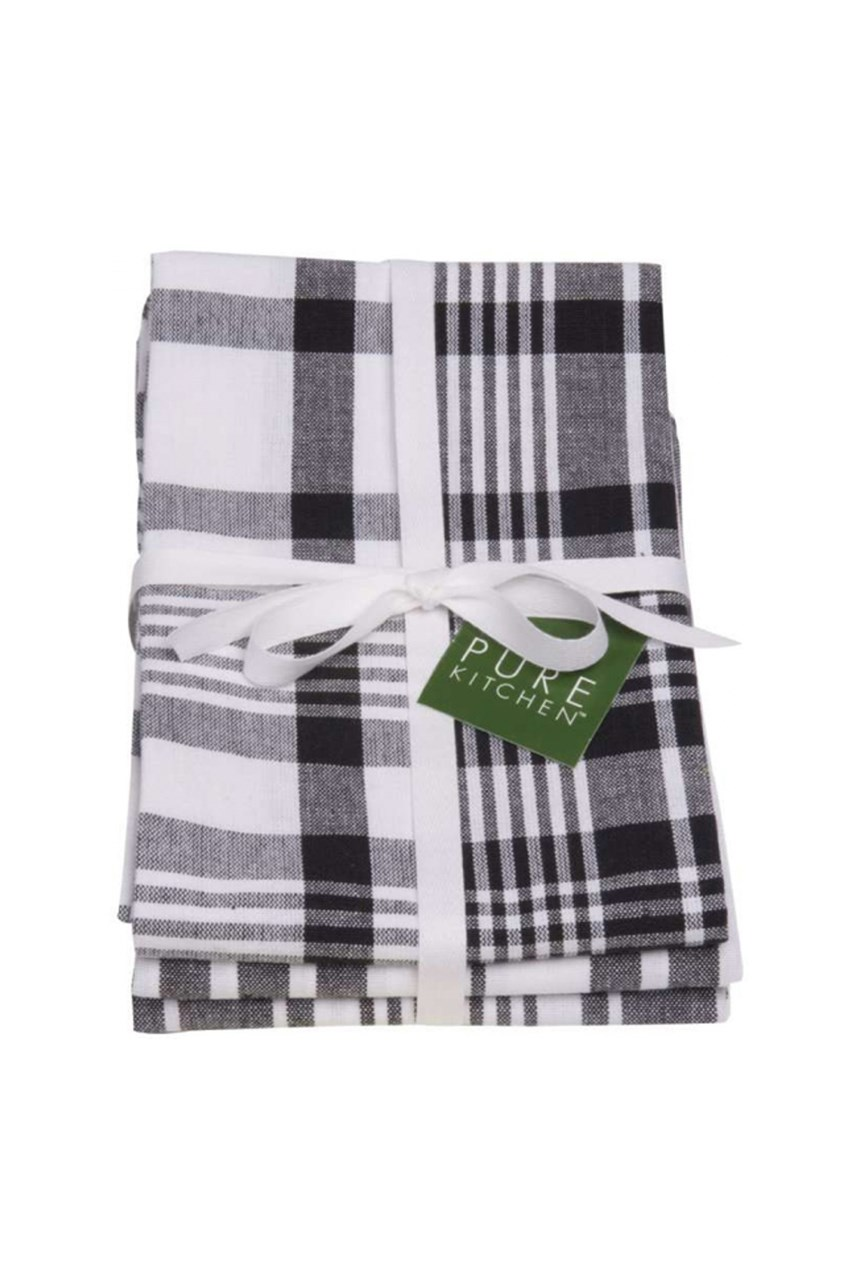 Jumbo Check Tea Towels Set of 3