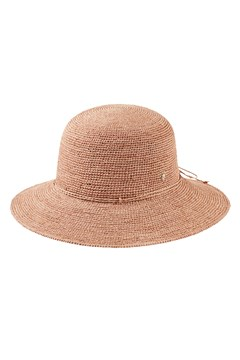 Eudora Essential Raffia Crochet Hat LIGHT MUSK 1