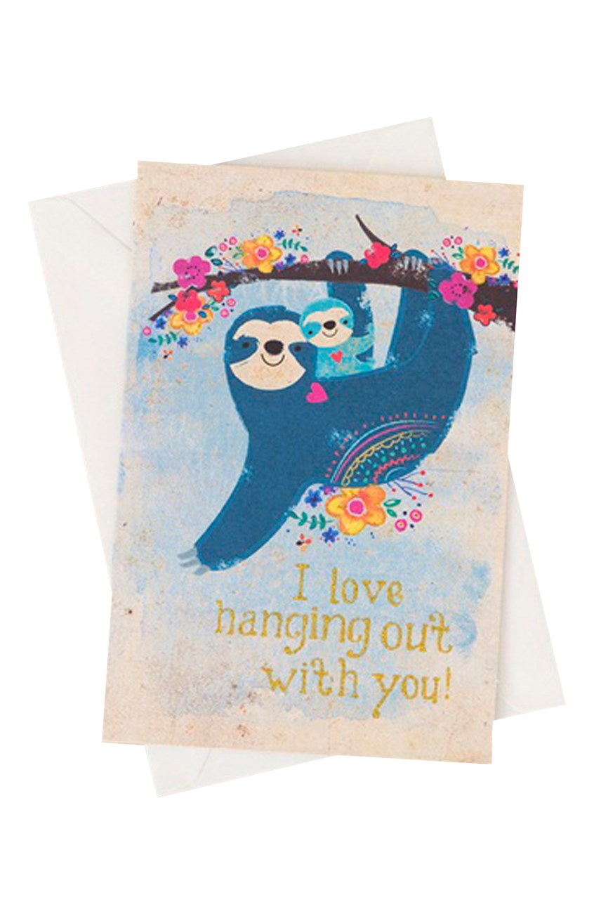 Sloth Love Hanging Card
