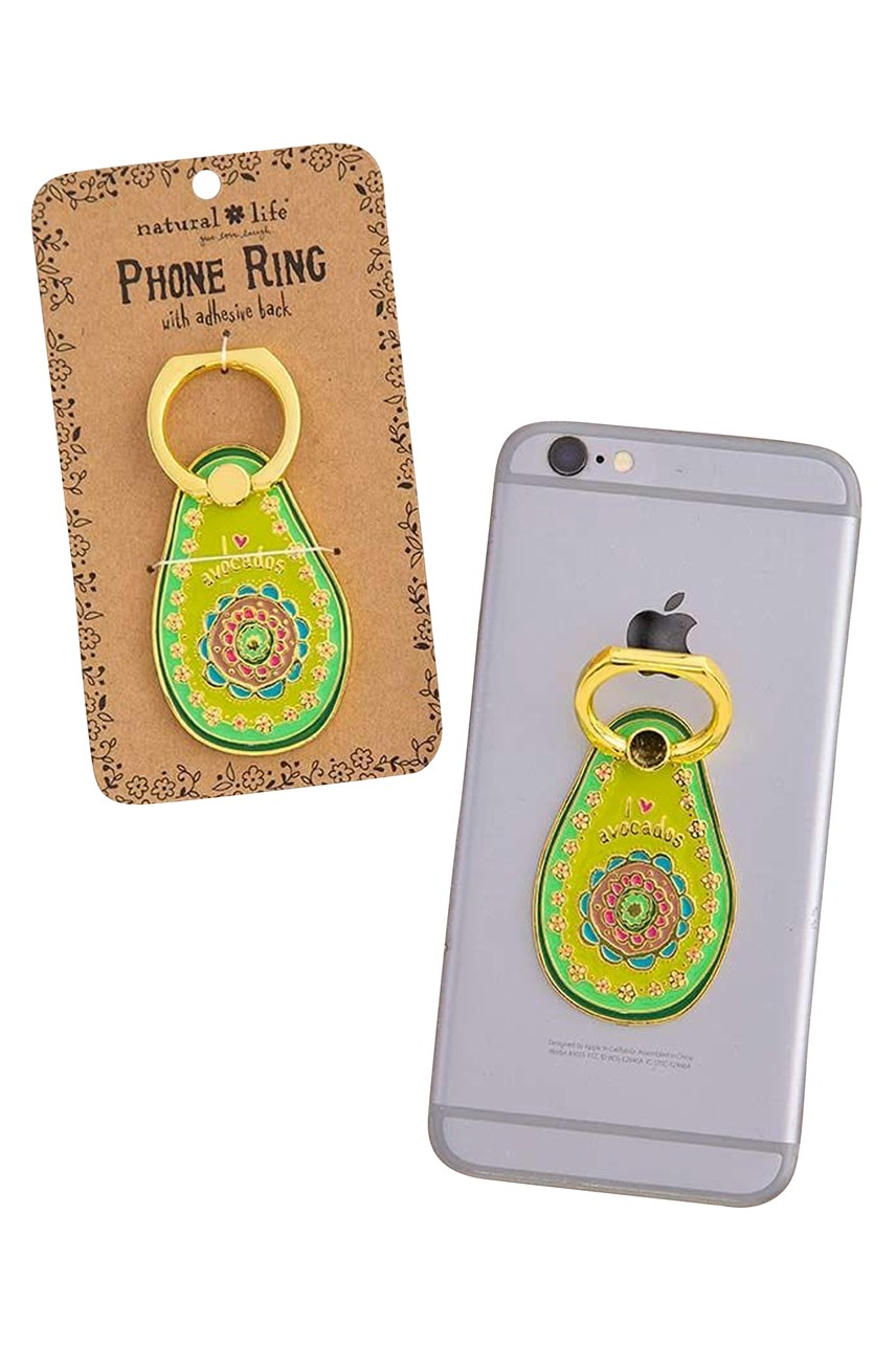 Avocado Enamel Phone Ring
