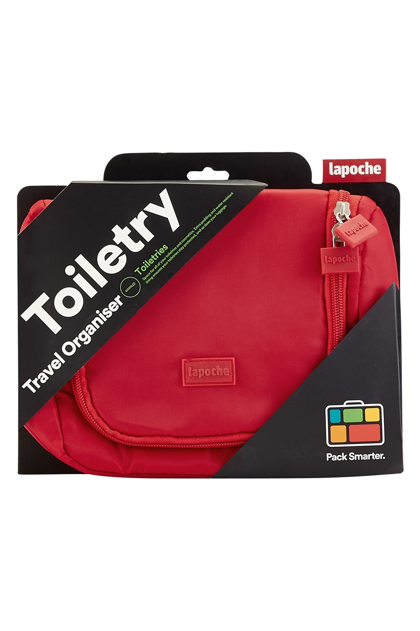 Toiletry Organiser Small - Red