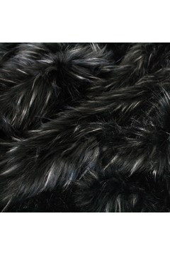 Faux Fur Ebony Plume Throw - ebony plume
