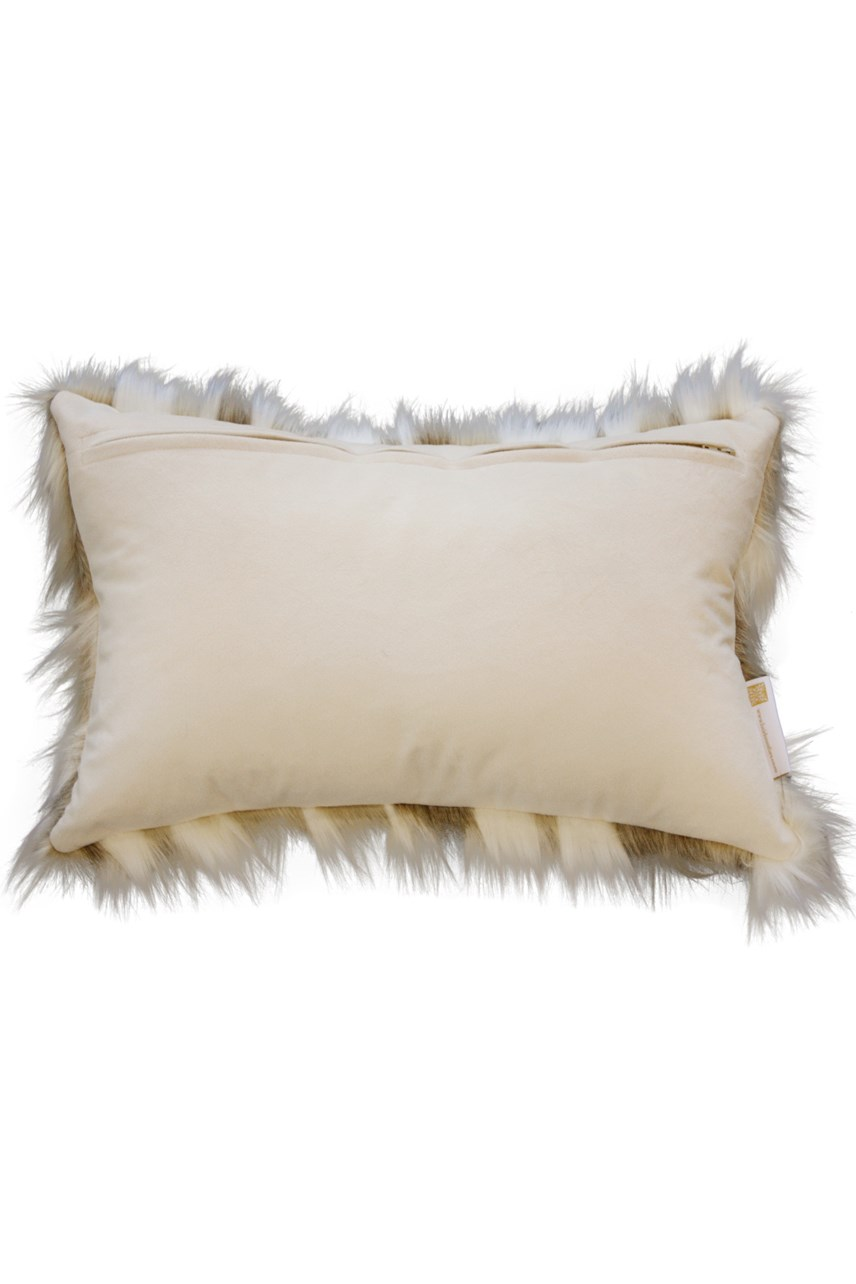 Snowshoe Hare  Faux Fur Cushion