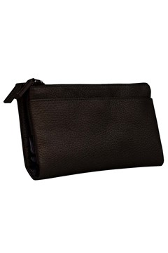 Designer Leather Clutch Bag BLACK 1