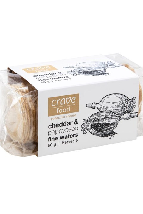 Cheddar & Poppy Seed Wafers -