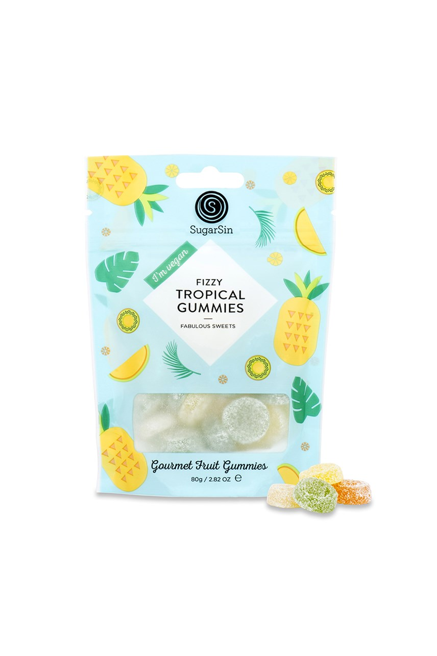 Fizzy Tropical Gummies - Vegan