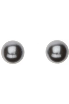 Grey Pearl Stud Earrings RHODIUM 1