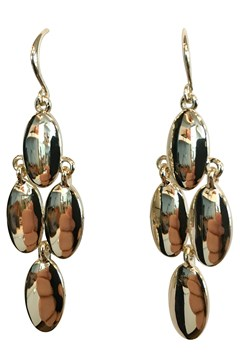 Metal Tear Drop Earrings GOLD 1