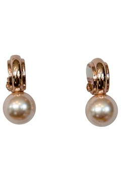 Half Hoop Clip-on Earrings with Faux Pearl ROSE GOLD 1