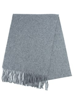 Wool Plain Scarf 960 GREY 1