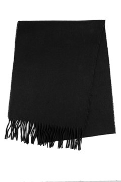 Wool Plain Scarf 990 BLACK 1