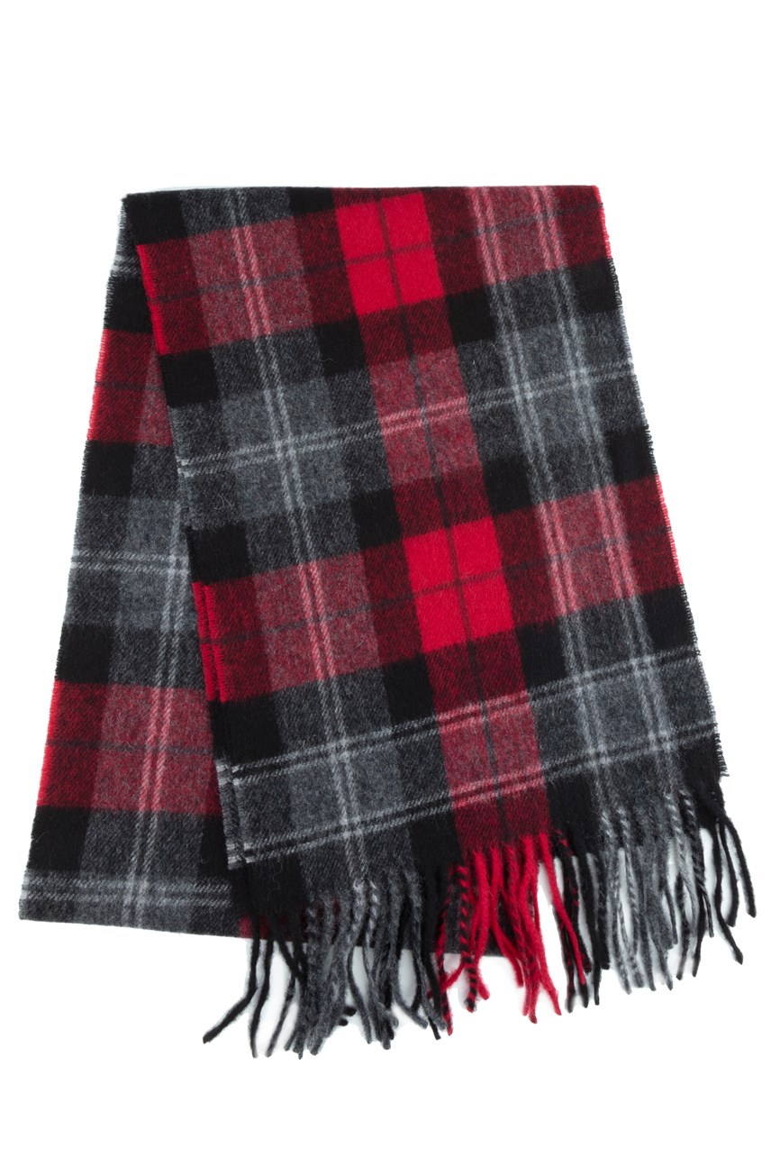 Wool Cashmere Check Scarf
