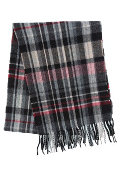Wool Cashmere Check Scarf 990 BLK 1