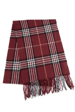 Wool Cashmere Check Scarf 371 BURGUNDY 1