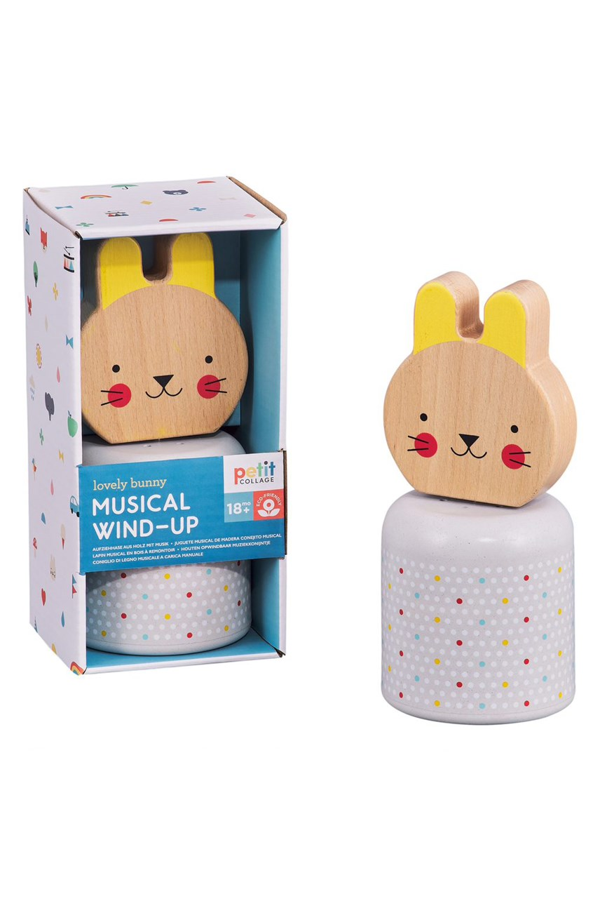 Wind Up Wooden Musical Bunny